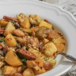 Polish Hash with Kielbasa and Cauliflower