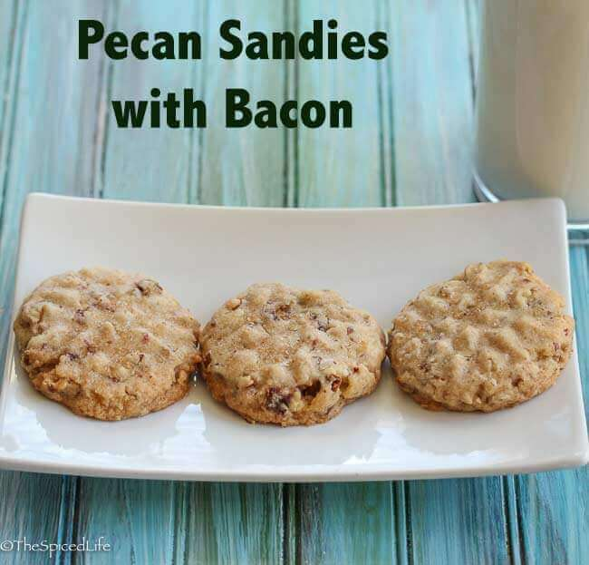 Pecan Sandies with Bacon