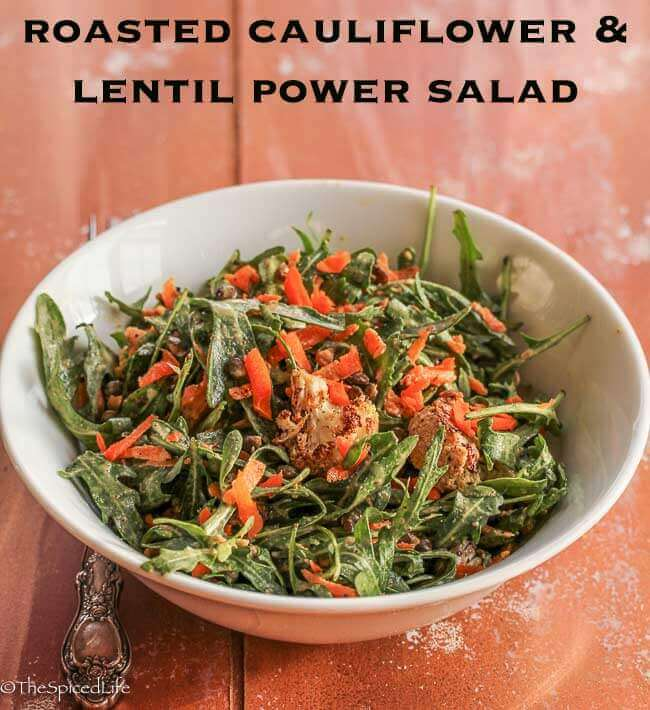 Roasted Cauliflower and Lentil Power Salad