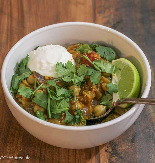 Chai Soaked Chana Masala Rice Pot