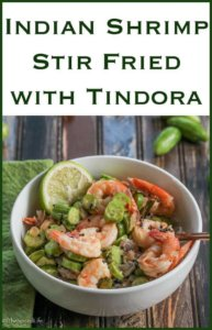 Indian Shrimp Stir Fried with Tindora