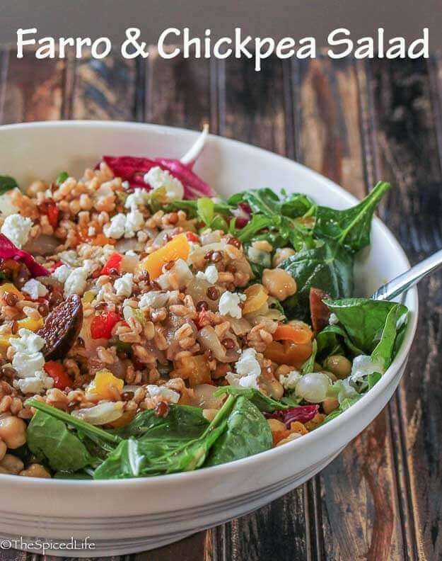 Farro and Chickpea Salad