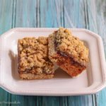 Strawberry Rhubarb Crumble Bars with Pistachios: #CreativeCookieExchange