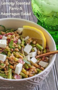 Lemony Toasted Farro and Asparagus Salad
