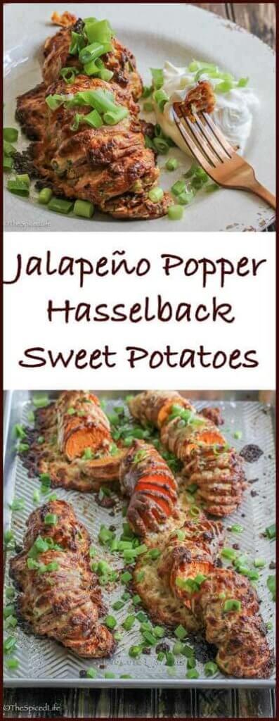 Jalapeño Popper Hasselback Sweet Potatoes