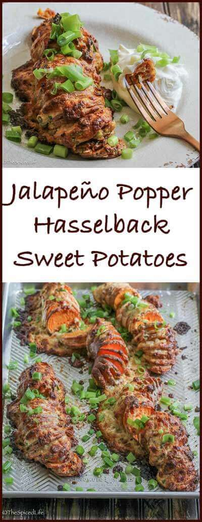 Jalapeño Popper Hasselback Sweet Potatoes