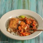 Mahi Mahi with Stewed Spiced Peaches