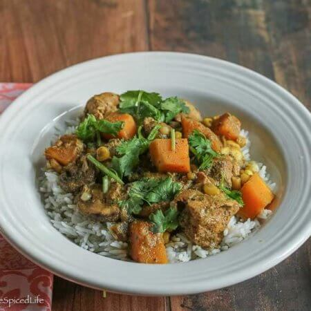 One Pot Black Pepper and Pistachio Curry with Chicken