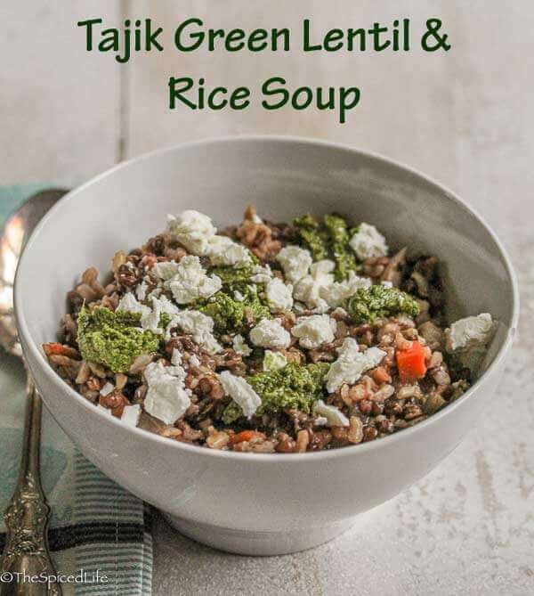 Tajik Green Lentil and Rice Soup