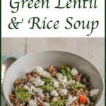 Tajik Green Lentil and Rice Soup