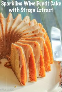 Sparkling Wine Bundt Cake with Strega Extract