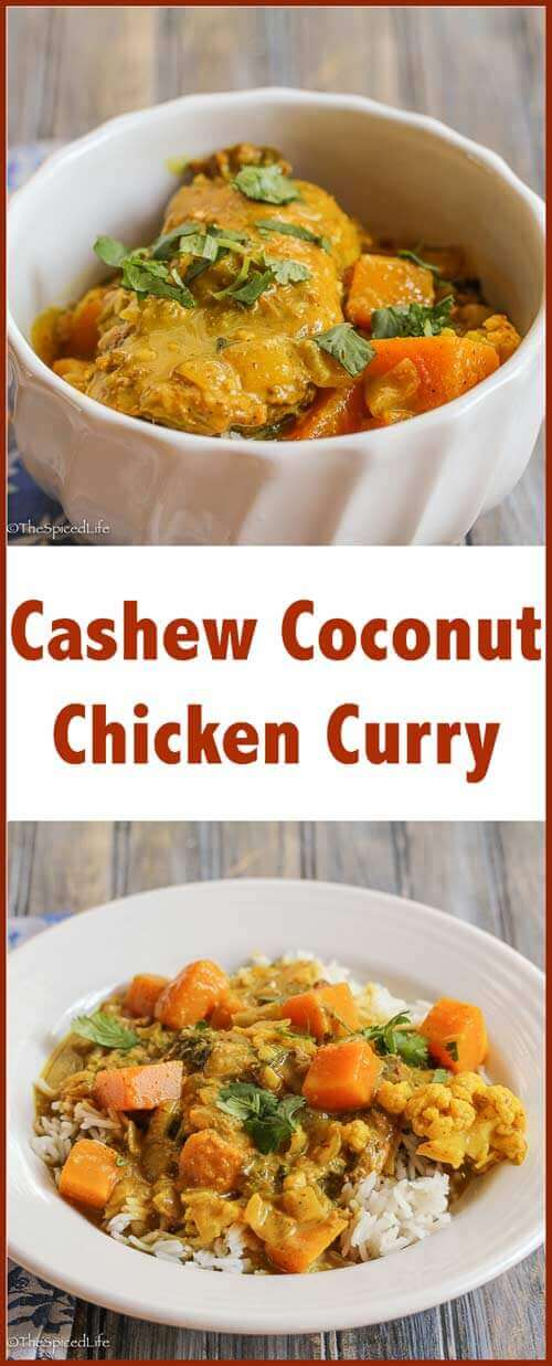 Cashew Coconut Chicken Curry