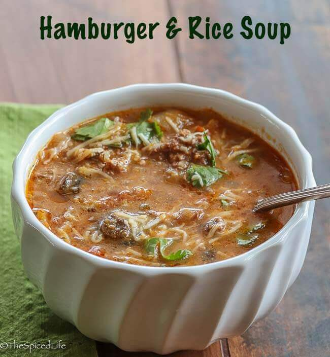 Hamburger and Rice Soup
