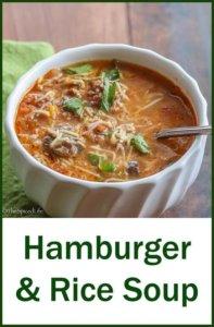 Hamburger and Rice Soup