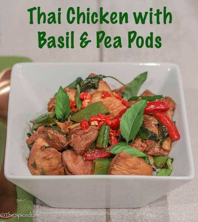 Thai Chicken with Basil and Pea Pods