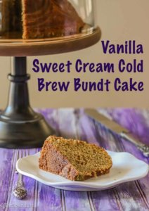 Vanilla Sweet Cream Cold Brew Bundt Cake