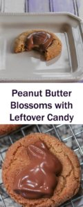 Peanut Butter Blssoms with Leftover Candy