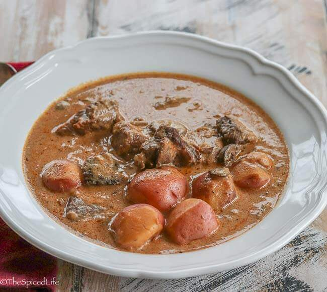 Marosszéki Heránytokány (Hungarian~Romanian Beef and Pork Stew)