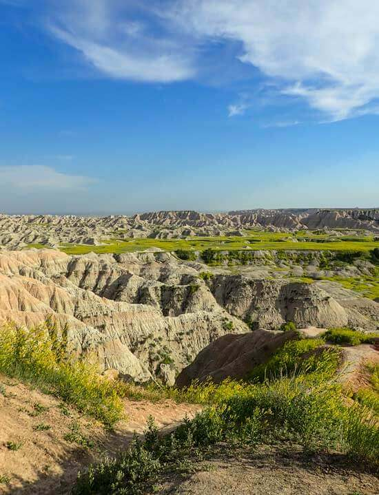 Badlands in afternoon