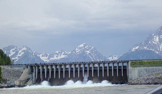 Dam in Cody in entrance to Yellowstone Park