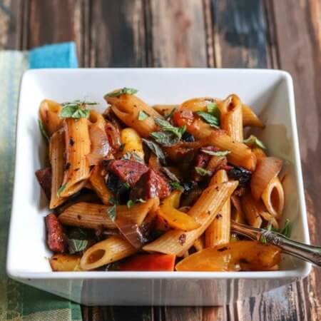 Filipino Black Bean and Sausage Rigatoni