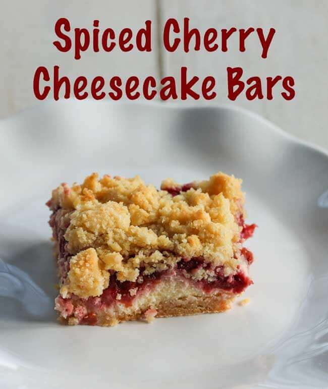 Spiced Cherry Cheesecake Bars