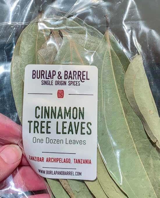 Burlap and Barrel cinnamon tree leaves