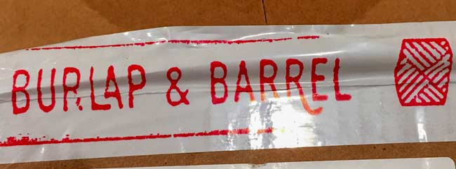 Burlap and Barrel shipping tape