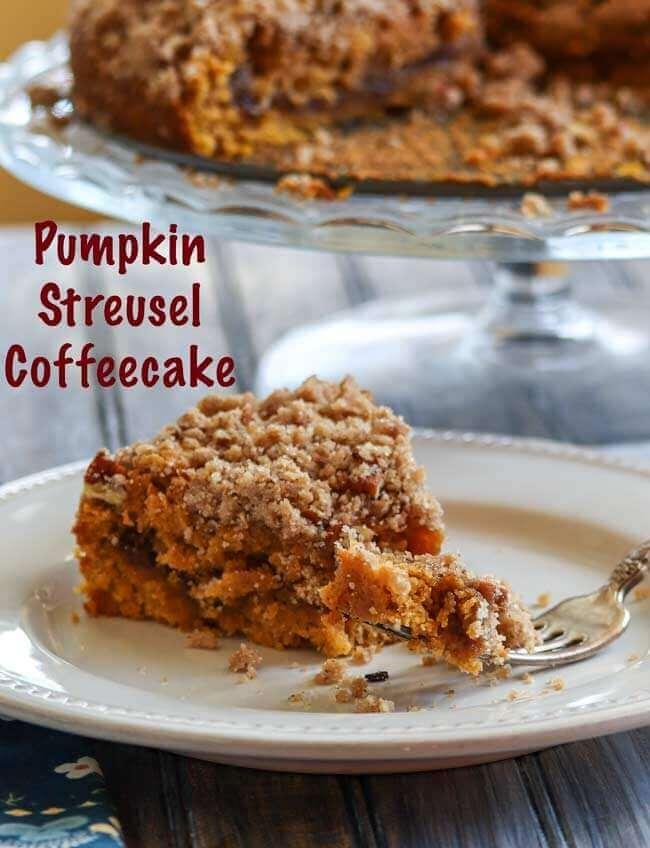 Pumpkin Streusel Coffeecake