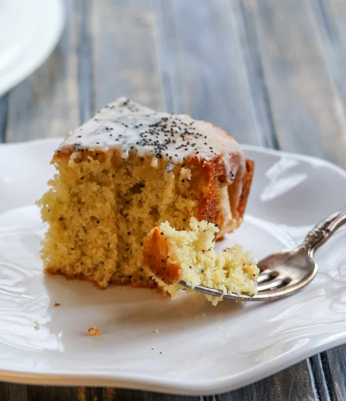 Glazed Meyer Lemon Poppy Seed Snacking Cake