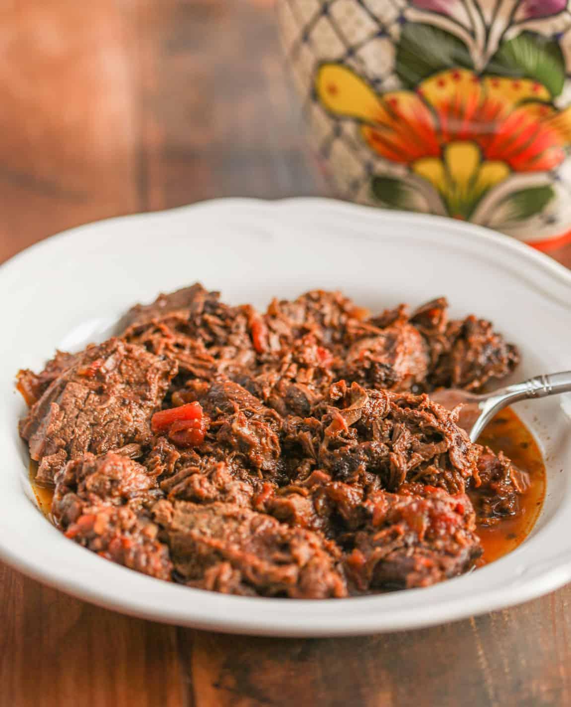 birria de res taco made with bison